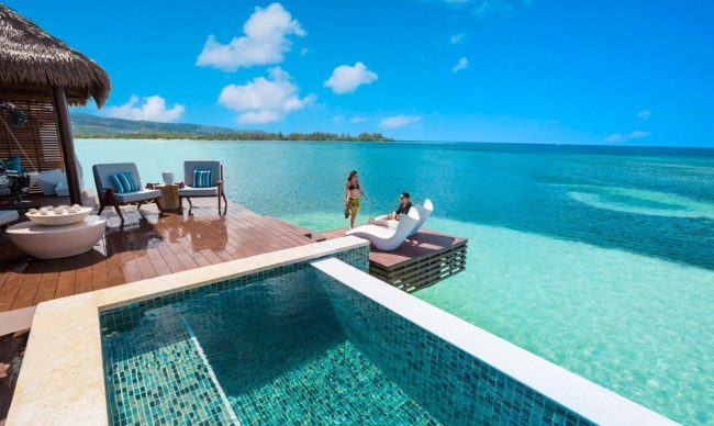 over the waters villas in the caribbean in jamaica, a caribbean vacation