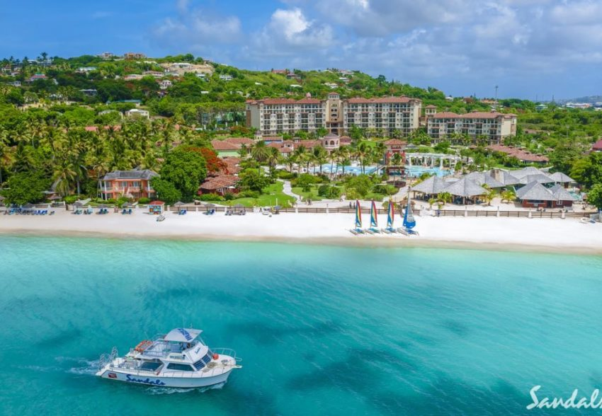 a view of the sandals grande antigua on the island of antigua in the caribbean