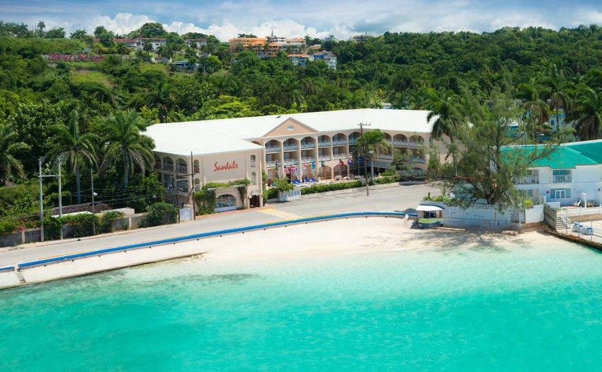 an Ariel view of sandals inn in montego bay jamaica