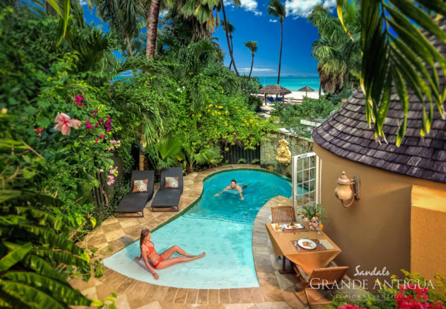 Caribbean Honeymoon Butler Rondoval with Private Pool Sanctuary - RP at sandals grande antigua