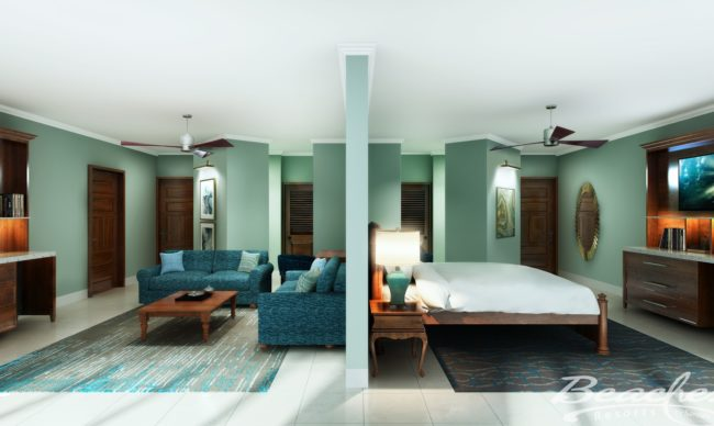 Tropical Beachfront Two-Bedroom Grand Butler Family Suite - 2BG at beaches negril