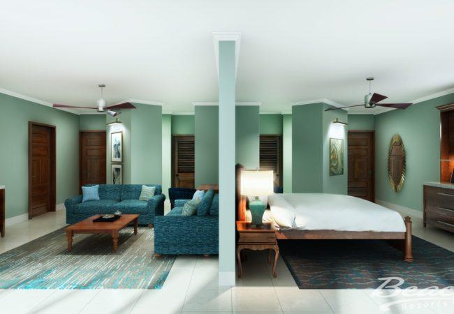 Tropical Beachfront Two-Bedroom Grand Butler Family Suite - 2BG