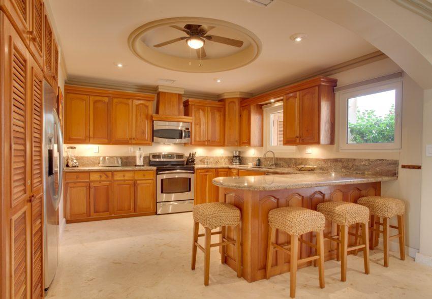 vills brushstrokes kitchen at belizean cove estate in belize