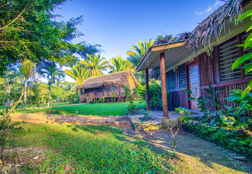 garden view cabanas at bocawina belize resort in southern belize