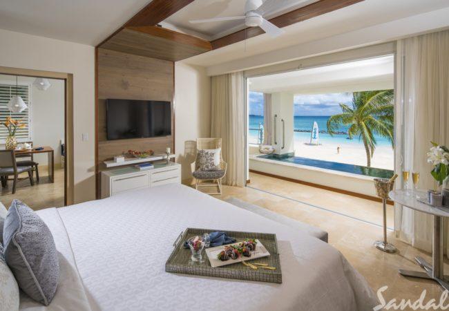 skypool rooms at sandals royal barbados
