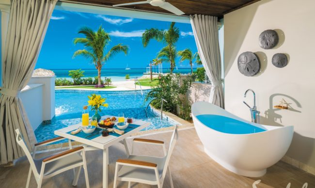 beachfront rooms at sandals montego bay
