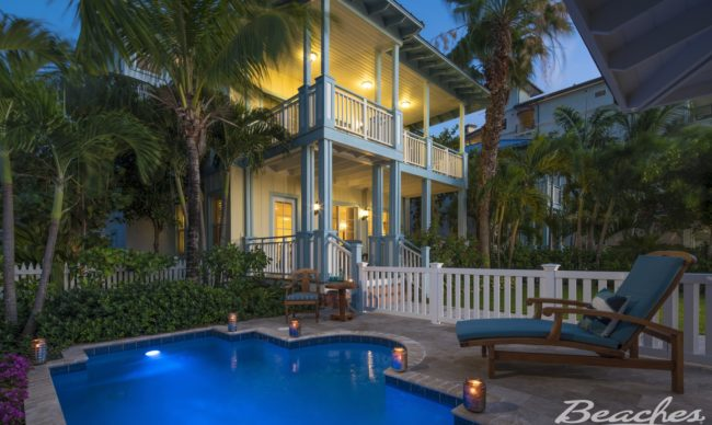 Key West Beachfront Four Bedroom Butler Villa Residence with Private Pool - 4VP at beaches turks & caicos