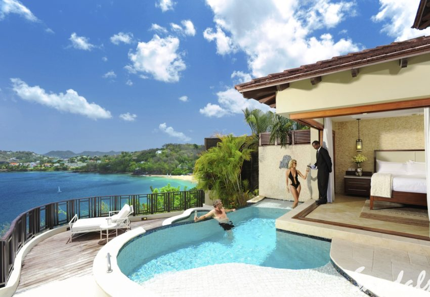 Sunset Oceanview Bluff Millionaire Butler Villa with Private Pool Sanctuary - SV
