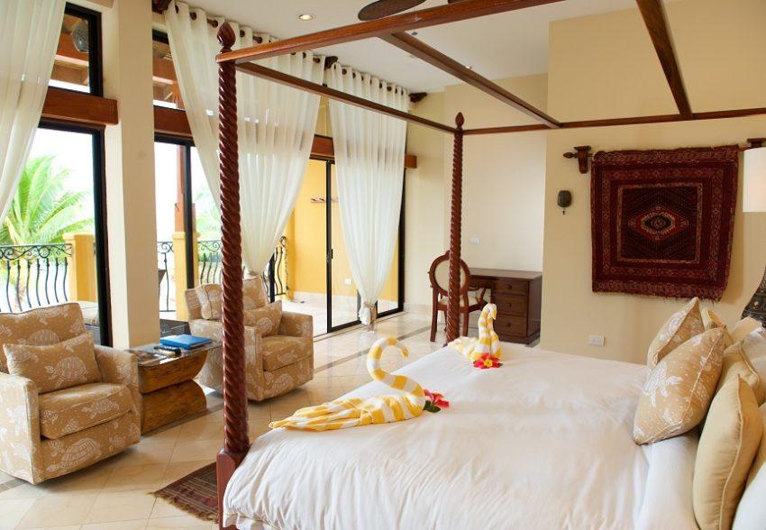 Beachfront rooms at villa verano belize