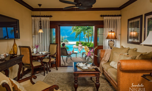 beachfront rooms at sandals negril