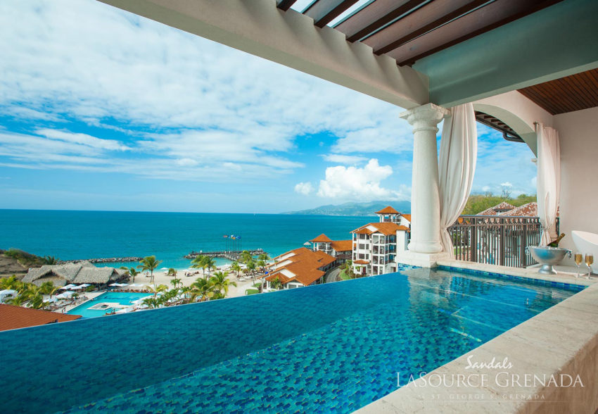 skypool rooms at sandals grenada