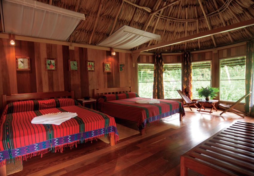 family cabanas at pooks hill lodge in belize