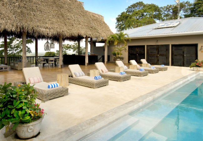 canopy suite with pool at copal tree lodge