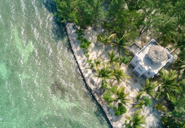 Premier Oceanfront Cabanas at thatch caye belize