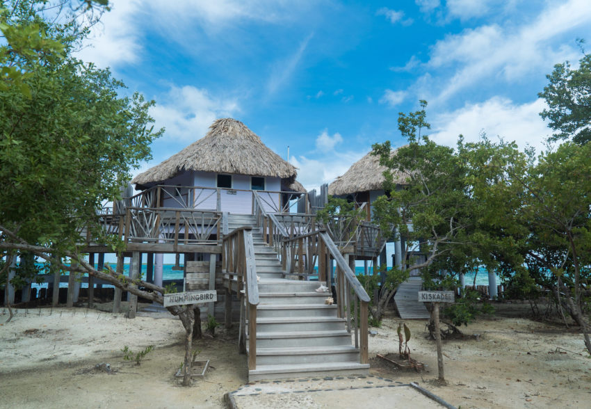 Over-The-Water Bungalows at thatch caye private island resort