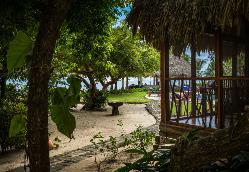 poolside seaview cottage at turtle inn belize luxury resort