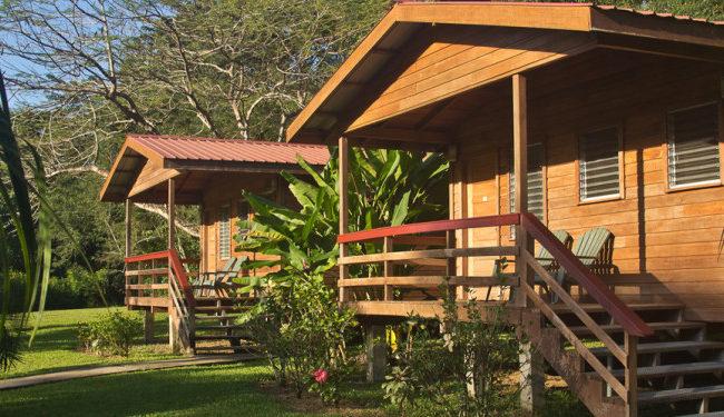 hardwood cabanas at big falls lodge in punta gorda belize