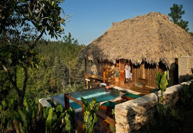 luxury cabana with private pool at blancaneaux lodge belize luxury resorts