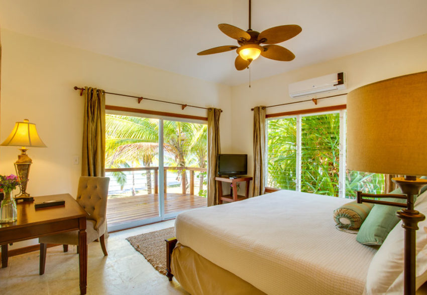 main house 2nd ocean view at ray caye island resort in belize