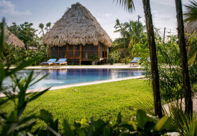 pool garden cottage