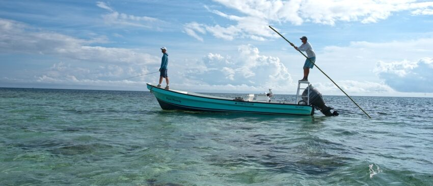 "guests fly ""sport"" fishing in belize"