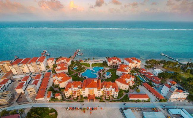 helicopter transfer to grand caribe belize