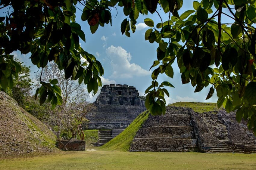 the tallest temple el castillo at xunantunich temple in western belize