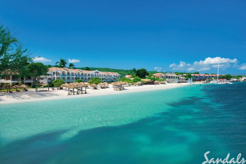 sandals montego bay on a private beach in montego bay jamaica