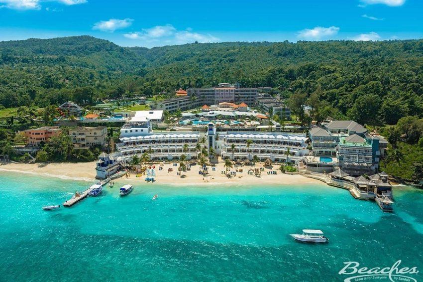 aerial view of beaches ocho rios in ocho rios jamaica