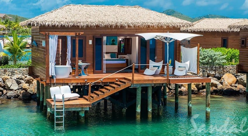 Over The Water Honeymoon Butler Bungalow, Sandals Grande St Lucian