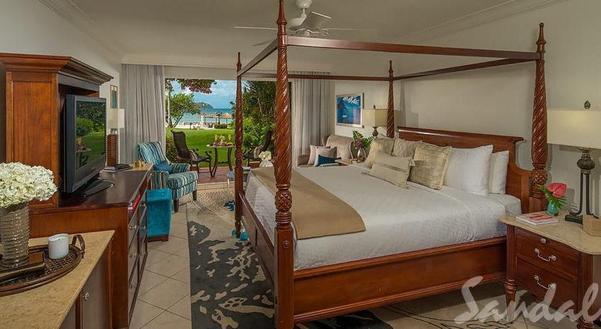 Caribbean Beachview Club Level Walkout, Sandals Grande St Lucian