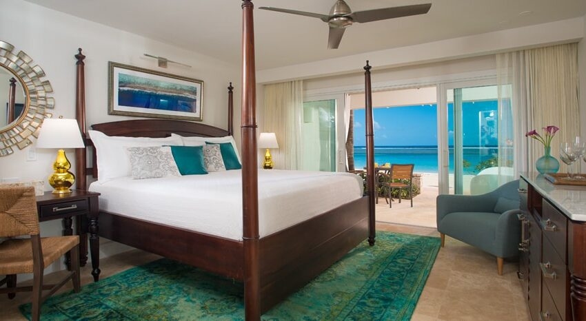 Windsor Beachfront Walkout Club Level Room with Patio Tranquility Soaking Tub, Sandals Royal Caribbean