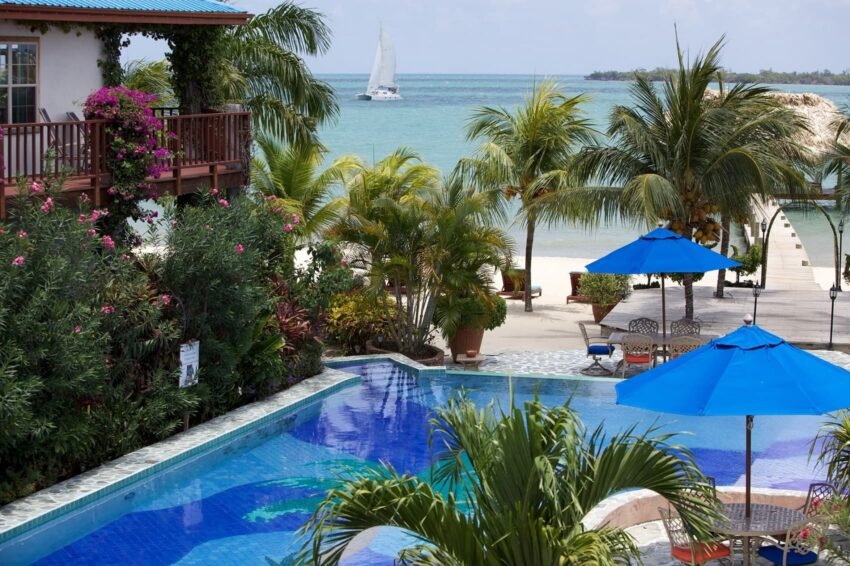 2nd Floor Veranda Seaview Chabil Mar Belize Resort-min