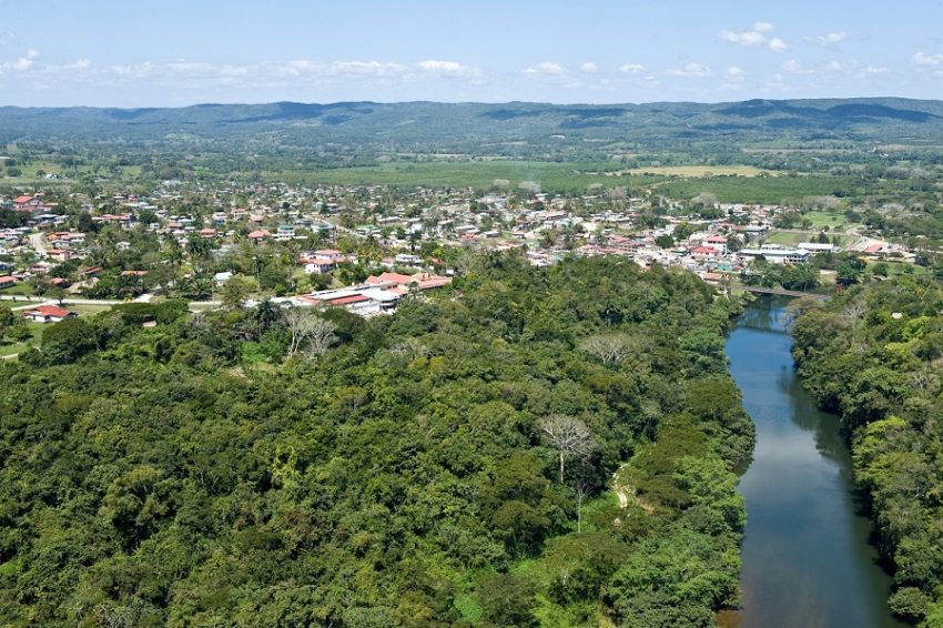 aerial view of san ignacio town in belize